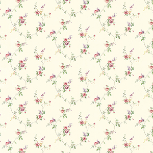 Laura Trail Yellow, Pink and Purple Floral Wallpaper