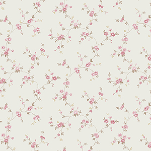 Como Trail Beige and Pink Floral Wallpaper