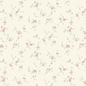 Como Trail Light Yellow, Turquoise and Pink Floral Wallpaper