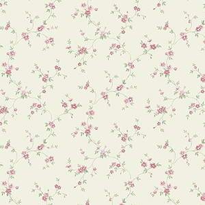 Como Trail Yellow and Pink Floral Wallpaper