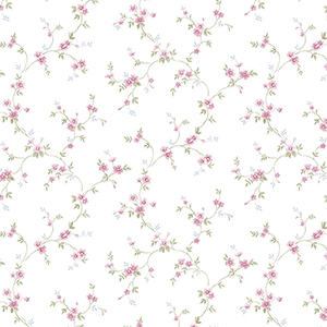 Como Trail Pink Floral Wallpaper