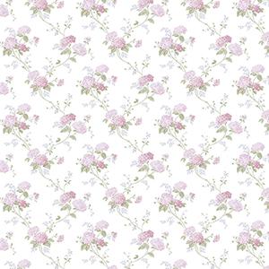 Mini Hydrangea Trail Pink and Purple Wallpaper