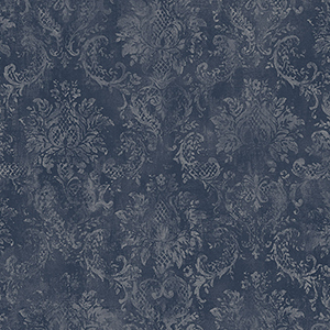 Canvas Damask Navy Wallpaper
