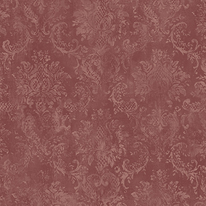 Canvas Damask Red Wallpaper