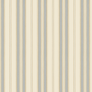 Heritage Stripe Beige and Blue Wallpaper