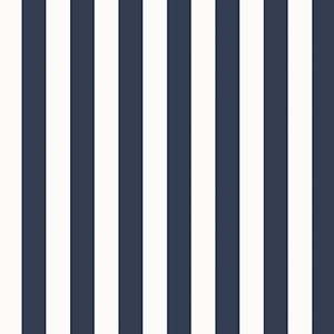Regency Stripe Navy and White Wallpaper