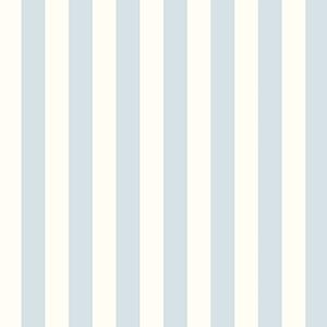 Regency Stripe Blue and Pearl Wallpaper
