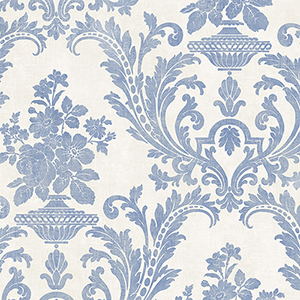 Sari Beige and Blue Texture Wallpaper