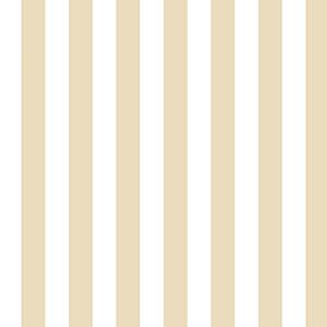Regency Stripe Beige and White Wallpaper