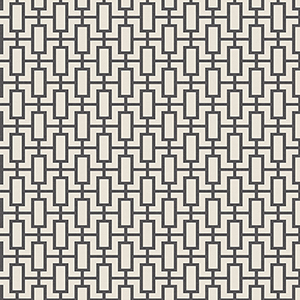 Luxor Print Black and Beige Wallpaper