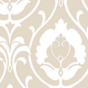 Italian Damask Taupe Wallpaper