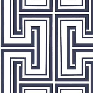 Tease Navy and White Wallpaper
