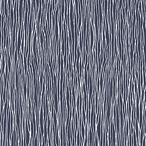 Jacaranda Navy and White Wallpaper