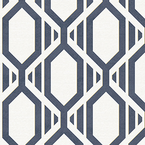 Gatsby Navy and Metallic Gold Wallpaper