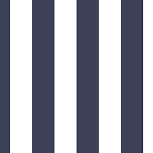 Tent Stripe Navy and White Wallpaper