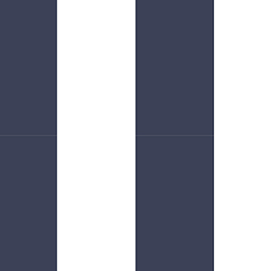 Navy and White 5.25 In. Stripe Wallpaper