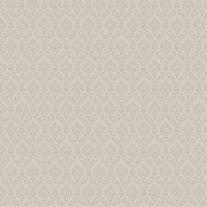 Taupe Small Damask Wallpaper