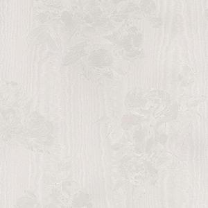 In Register Floral Moiré Light Grey Wallpaper