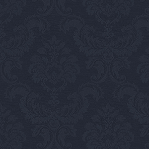 Damask Emboss Navy Wallpaper