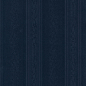 Medium Moiré Stripe Navy Blue Wallpaper