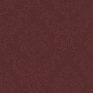 Damask Emboss Red Wallpaper