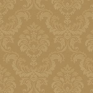 Damask Emboss Metallic Gold Wallpaper