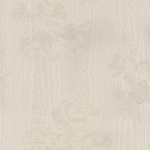 In Register Floral Moiré Light Cream Wallpaper