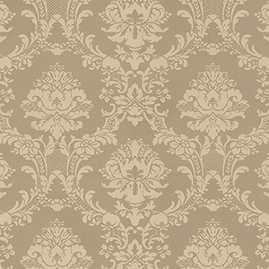 Document Damask Metallic Gold Wallpaper