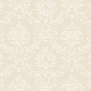Document Damask Ivory and Pearl Wallpaper