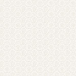 White Opaque Mini Damask Wallpaper