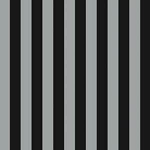 Regency Stripe Metallic Silver and Black Wallpaper