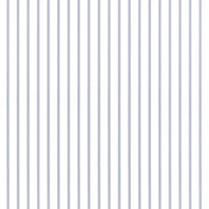 Ticking Stripe Light Blue and White Wallpaper