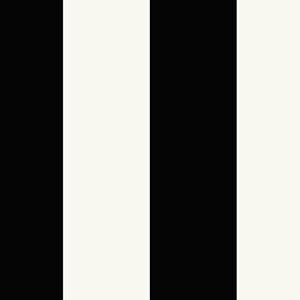Pearl and Black 5.25 In. Stripe Wallpaper