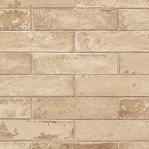 Cream and Camel Swiss Brick Wallpaper