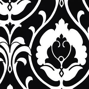 Italian Damask Black and White Wallpaper