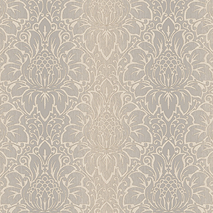 Venetian Damask Grey and Brown Wallpaper