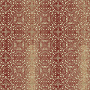 Tribal Red, Ochre and Metallic Gold Texture Wallpaper