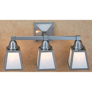 A-Line White Opalescent Three-Light Sconce