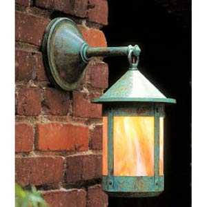 Berkeley Small Gold White Iridescent Outdoor Wall Mount
