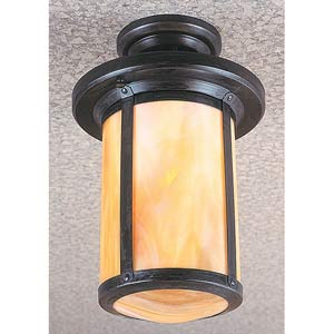 Berkeley Gold White Iridescent Semi-Flush Mount
