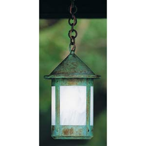 Berkeley Medium White Opalescent Outdoor Pendant