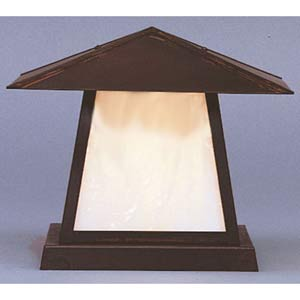 Carmel Large White Opalescent Outdoor Post Mount