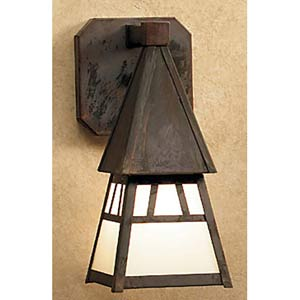 Dartmouth Small Frosted Outdoor Sconce