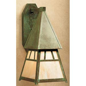 Dartmouth Large Gold White Iridescent Outdoor Sconce