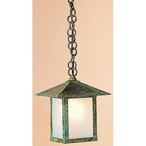 Evergreen Large Frosted Outdoor Pendant