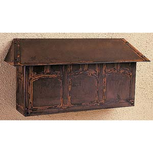 Evergreen Bronze Mail Box - Horizontal