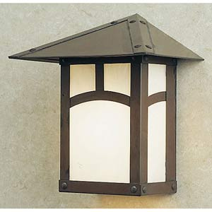 Evergreen Small White Opalescent Classic Arch Outdoor Wall Mount