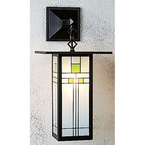 Franklin Yellow and Green Long One-Light Sconce