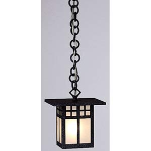 Glasgow Small Frosted Outdoor Pendant
