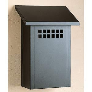 Glasgow Satin Black Mail Box - Vertical